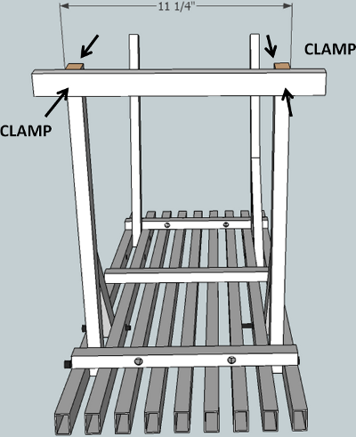 hockey stick bench leg clamps