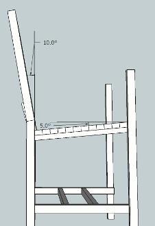 hockey stick chair plans angle of back