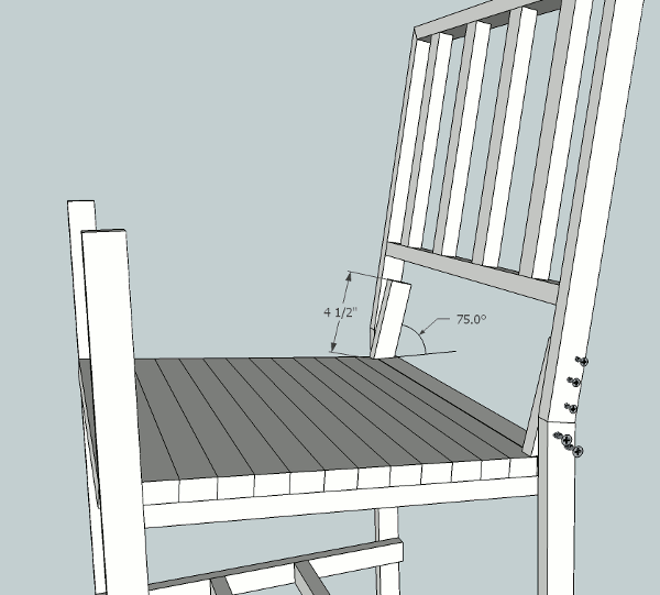 hockey stick chair back attachment