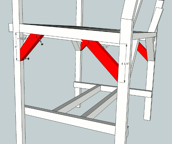 hockey stick chair plans supports