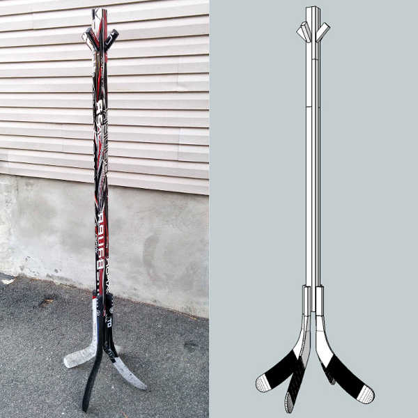 Coat Rack Hockey Stick Builds