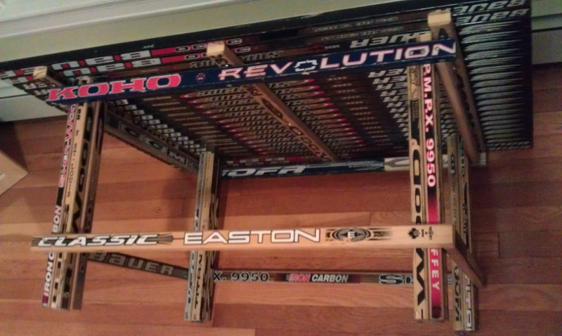 Coffee Table Hockey Stick Builds