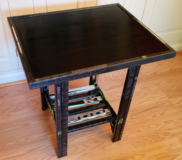 hockey stick wood table