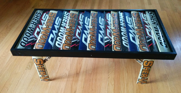 hockey stick goalie table