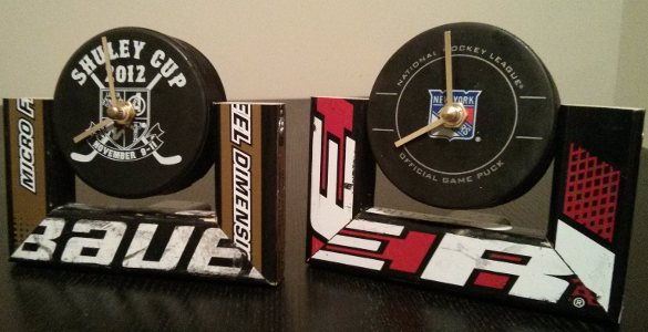 Desk Clock Hockey Stick Builds