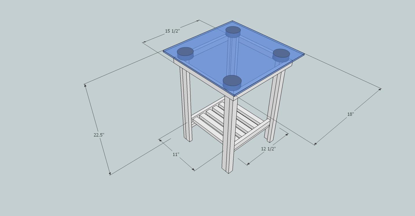 MEndTable Dimensions