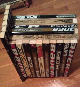 hockey stick nightstand drawer components