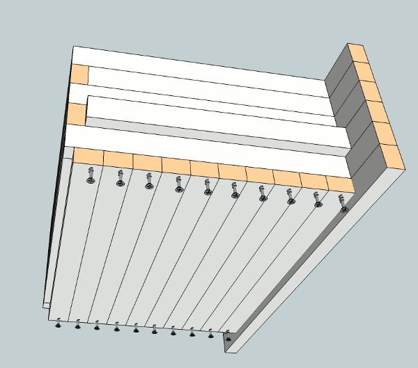 hockey stick nightstand drawer components