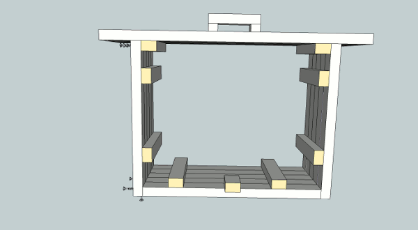 hockey stick nightstand drawer front