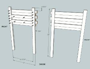hockey stick nightstand drawer sides