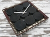 Puck Clock Red Black