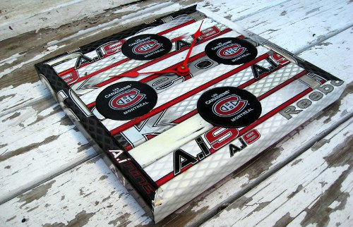Hockey Stick Furniture Puck Stick Clock