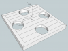 Hockey Stick Clock Model Puck Hole Locations